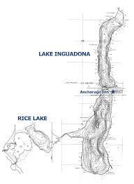 Lake Maps Mn Lake Inguadona Cass County Lake Located Near Longville Mn