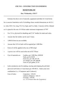 building material cost calculator estimator 1 99 26 57 civil engineering archive april 26 2017 chegg com