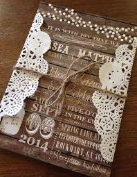 country chic wedding invitations top 15 popular rustic wedding invitaitons idea sles on