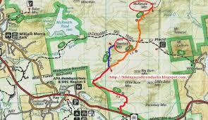 Adirondack Mountains Map Hiking New York Adirondacks