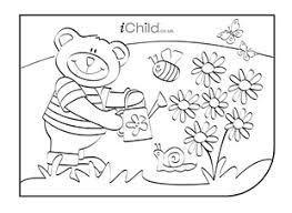 teddy bear colouring picture ichild
