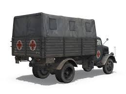 opel blitz maultier 3d model opel blitz ambulance sanabt30 cgtrader