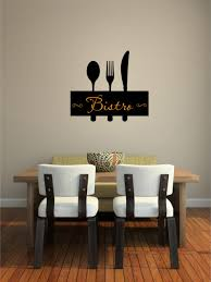 brilliant kitchen with wall quotes decals combined hardwood dining