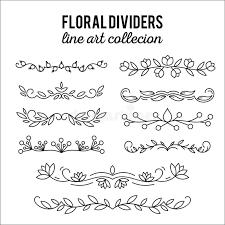 flourishes dividers set line style decoration ornamental
