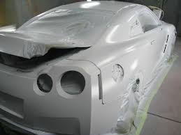 stillen r35 gt r in the paint booth stillen garage stillen r35 gt r in the paint shop