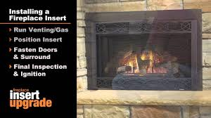 heatilator gas fireplace insert installation video youtube