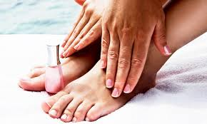 mani pedi and eyebrow wax angel tips nail spa groupon