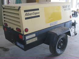 2006 atlas copco xas 97 air compressor item e3380 sold
