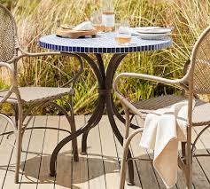 crate and barrel bistro table awesome mosaic bistro table on havana pottery barn writers bloc