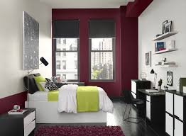 Purple Accent Wall by Red Bedroom Ideas Cityscape Red Bedroom Paint Color Schemes