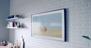 Under The Cabinet Tv For The Kitchen Samsung The Frame Tv Display Art 4k Uhd Resolution Samsung Us
