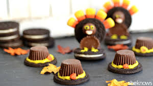 oreo turkeys and pilgrim hats thanksgiving food crafts the