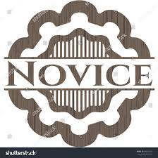 novice wooden emblem stock vector 430162309 shutterstock