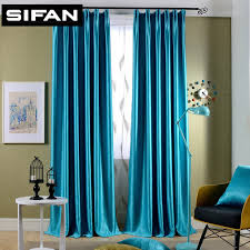 Office Curtain Aliexpress Com Buy Sparkle Blue Yellow Pearl Cashmere Blakcout