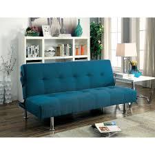 dewey contemporary futon sofa dark teal