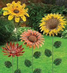 metal flower garden stakes garden stake metal flowers decorative garden stakes