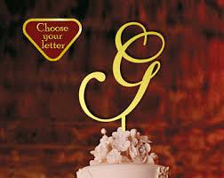g cake topper letter c cake topper cake topper initial monogram cake
