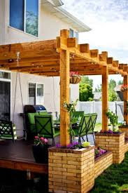 Swing Arbor Plans Best Pergola Attached To House Ideas Only Images Amazing Backyard