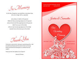 4 best images of wedding program cover page black and white