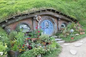 hobbit hole tiny blue hobbit hole picture of hobbiton movie set tours