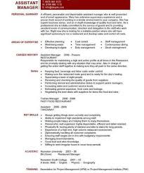 Knockout Manager Resume Template Free by Restaurant General Manager Resume Jobs Billybullock Us