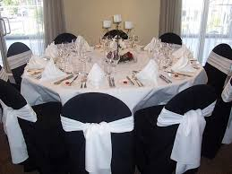 Chair Cover For Wedding Dining Room White Tablecloths Black Runner Napkins Chair Covers