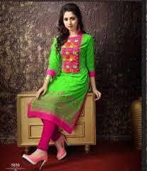 Design House Kurta Online Buy Buy Parrot U0026 Pink Colour Cotton Embroidered Kurta U0026 Kurti Online