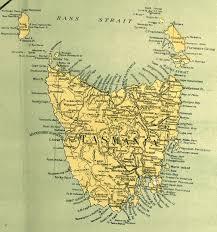 map of tasmania australia australia and the pacific historical maps perry castañeda map