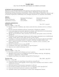 Sample Resume Objectives For Paraprofessional by 25 Public Librarian Resume Samples Vinodomia