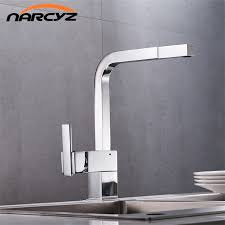 free shipping new chrome pull out kitchen faucet square brass sink
