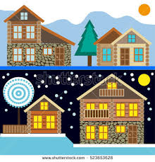 chalet houses free chalet house vectors free vector stock