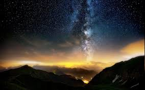 nature landscape long exposure mountain milky way starry