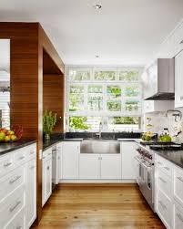 Wooden Kitchen Countertops Simple Narrow U Shape Kitchen White Wooden Kitchen Cabinets Level