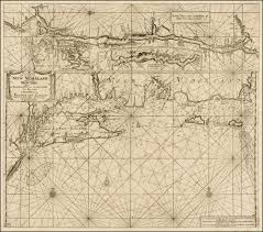 Map New York Connecticut by A Fine Early Sea Chart Of New York And Southern New England