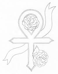 new cross ankh tattoo with roses tattooshunt com