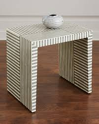 bone inlay side table interlude home farrah bone inlay side table neiman marcus