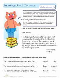 commas in letters worksheet education com