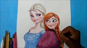 draw elsa anna frozen movie speed