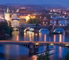 Rublyovka City Scenery At Night Including Skyline Czech Republic Scenery