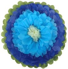 royal blue tissue paper tissue paper flower 14 royal blue powder blue ivory just