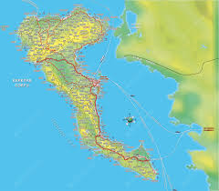 Political Map Of Greece by 4 Best Corfu Maps In Greek And English Corfu Benitses Travel Guide