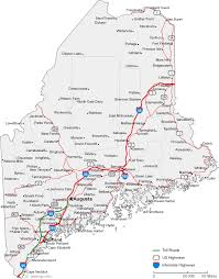 maine map with cities map of maine cities maine road map