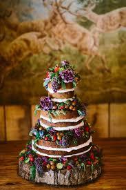 homemade wedding cake with wood cake stand