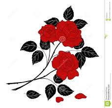 flowers rose silhouette royalty free stock images image 35665319
