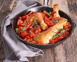 cuisine poulet basquaise recette poulet basquaise facile