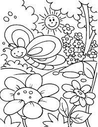 springtime season flower bloom coloring sheet batch
