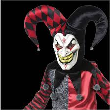 jester mask with hat halloween costume mad about horror