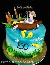 Fish Home Decor Accents Fishing Birthday Cake 9