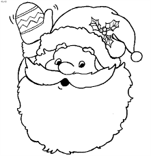 father christmas colouring pictures free download clip art