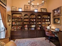 cozy workspaces home offices with a rustic touch shelf space for books and more